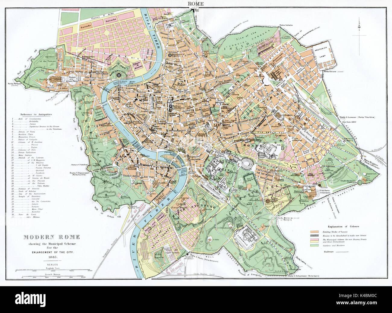 Touristischen Karte Von Rom Sehenswurdigkeiten Und Touren