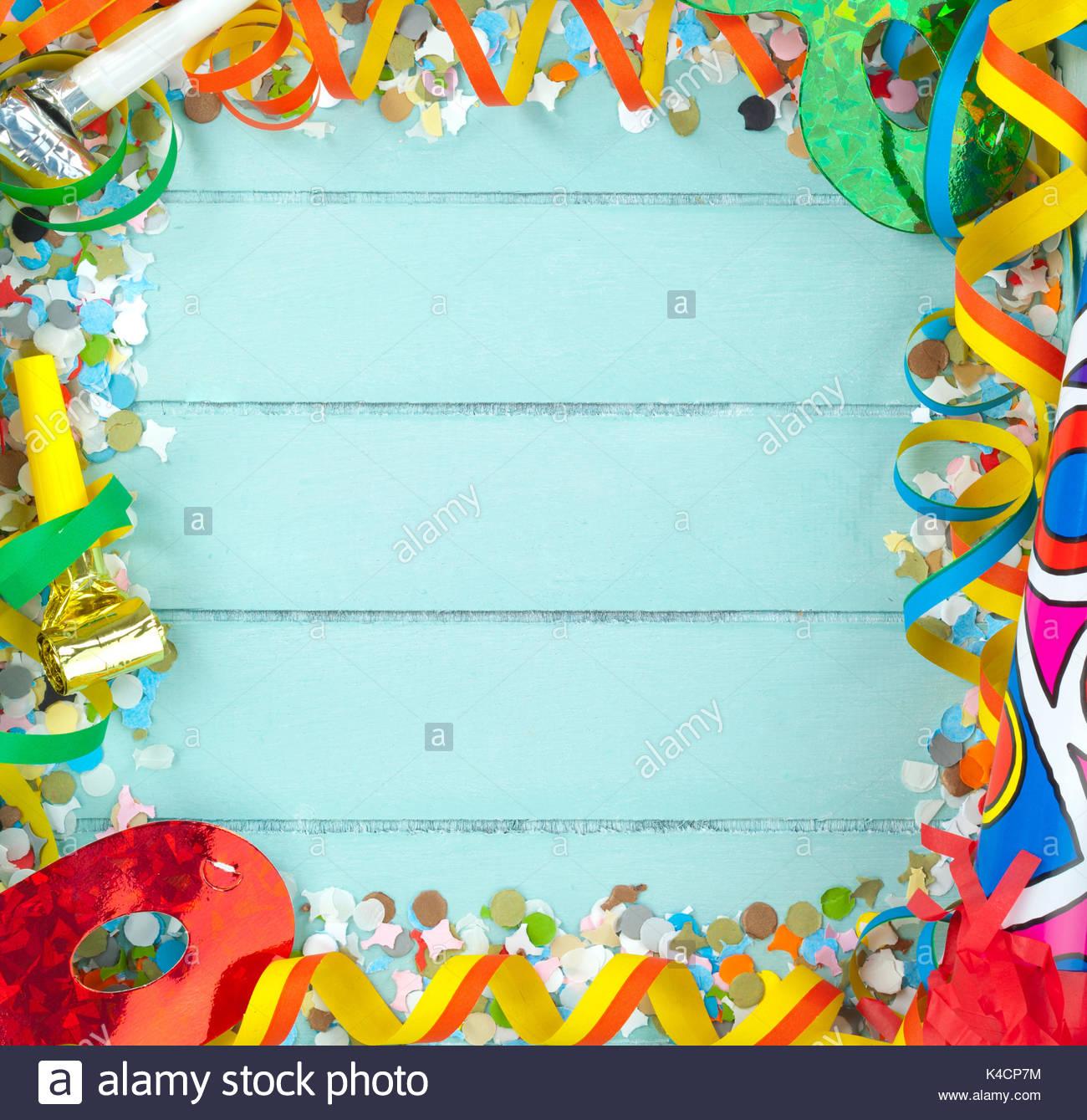 Leeres Quadrat Rahmen für Feier und Karneval Zubehör auf Holz ...