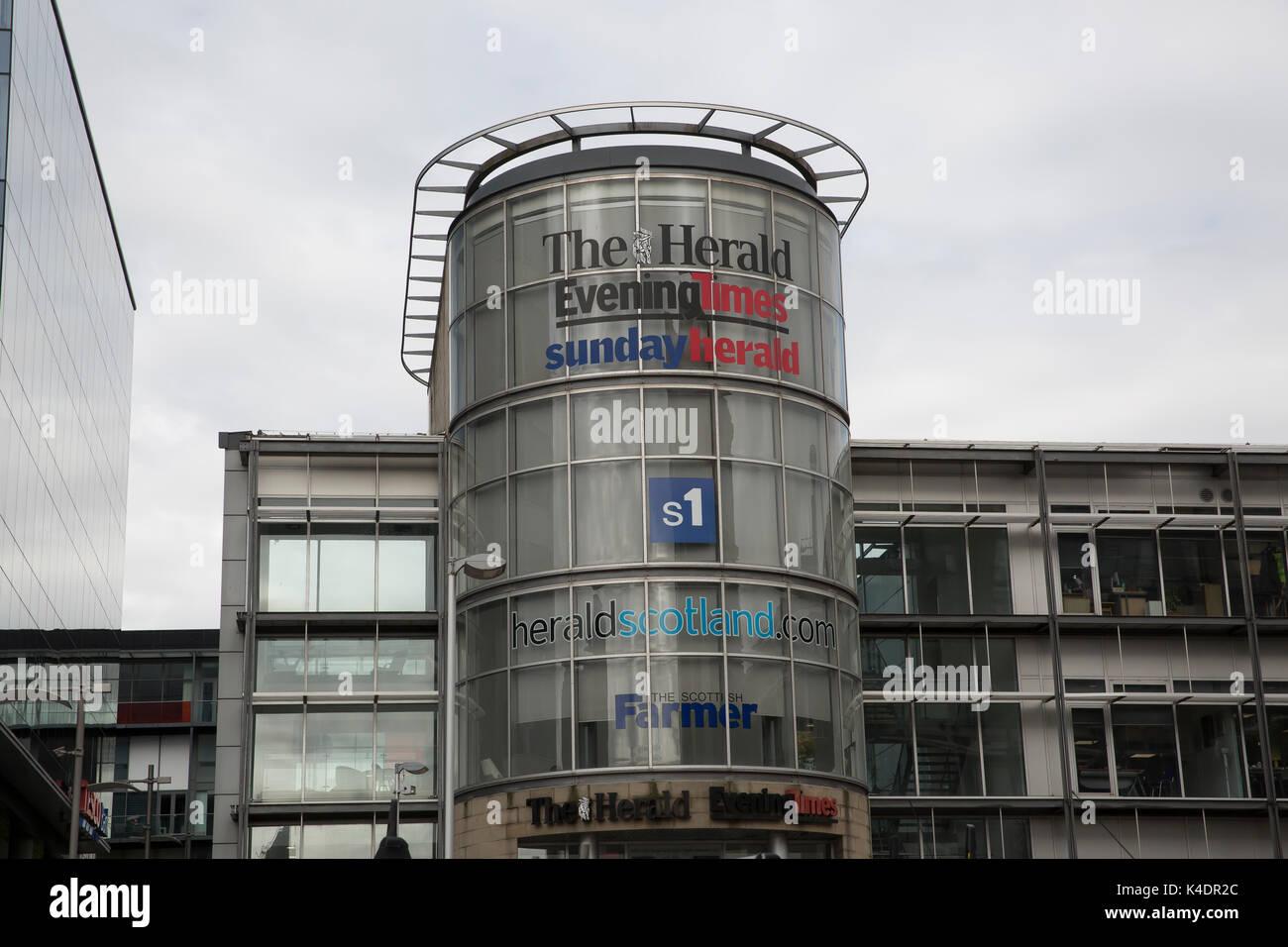 Der Verkünder, Abend und Sonntag Verkünder Gebäude in Glasgow Stockfoto