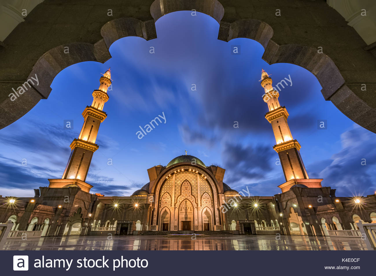 Bundesgebiet Moschee, Kuala Lumpur Stockbild
