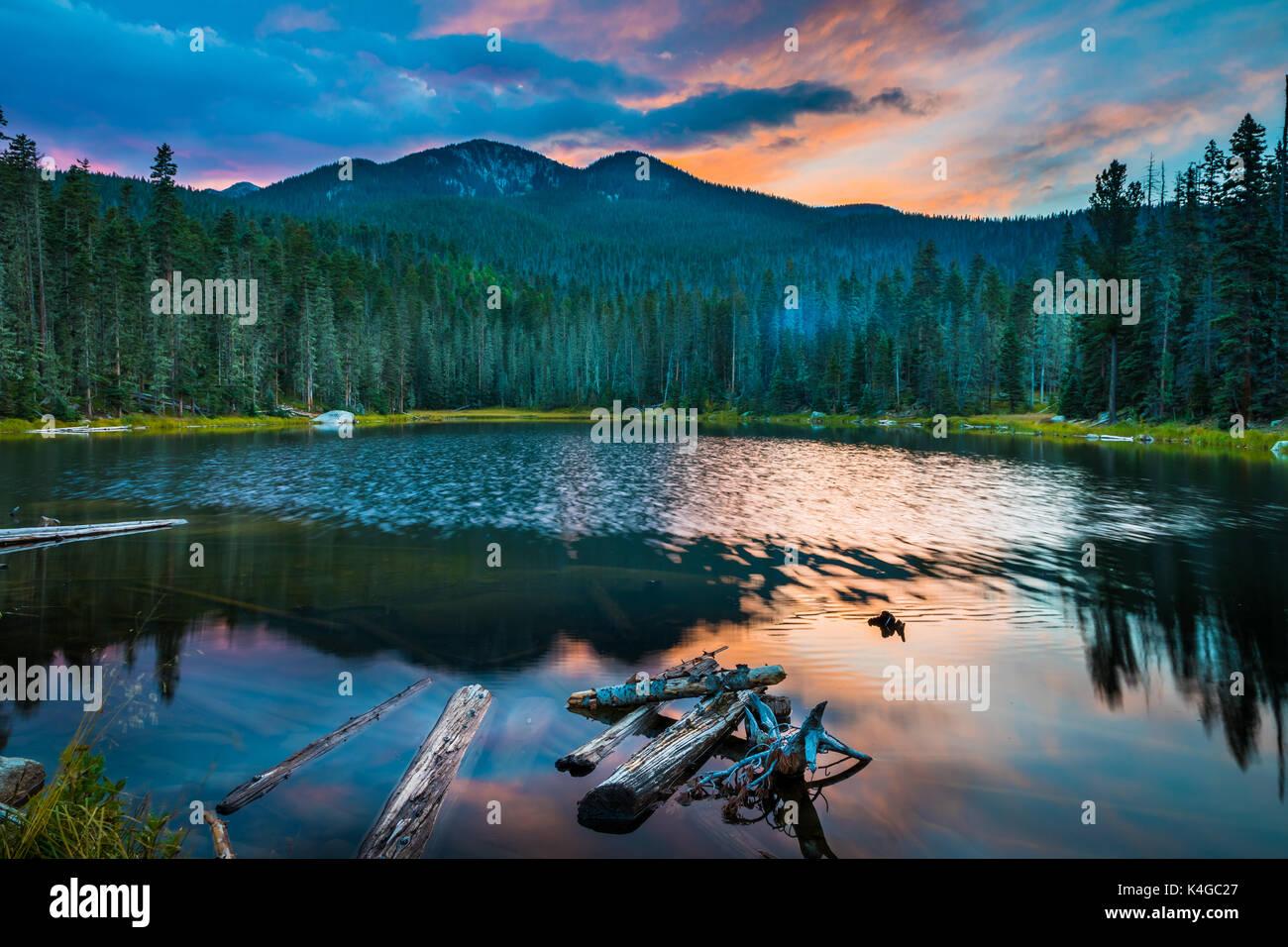Der pecos Wilderness ist eine geschützte Wildnis im Santa Fe National Forest und Carson National Forest. Stockbild