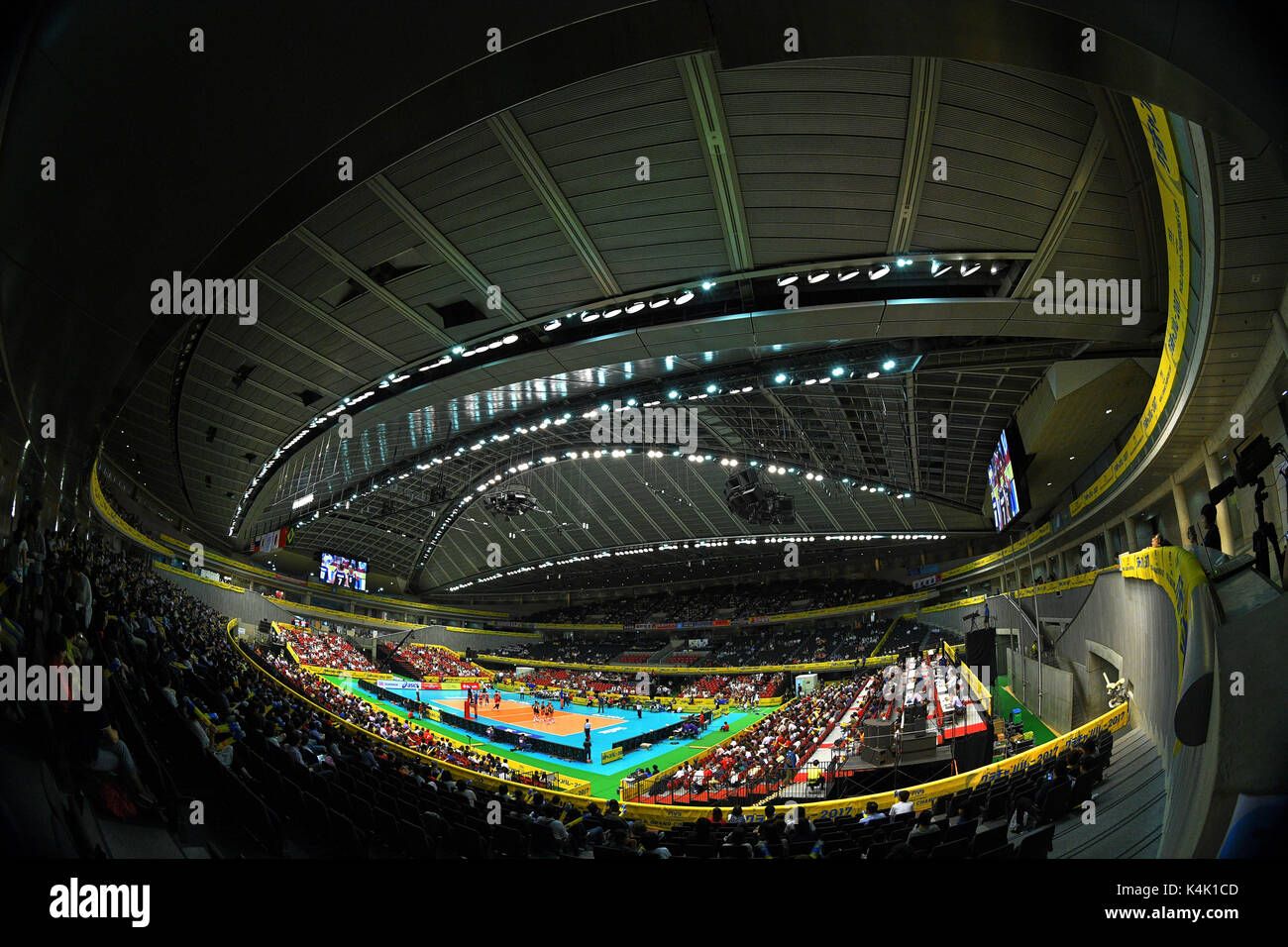Tokio, Japan. Credit: MATSUO. 6. Sep 2017. ÌåãûëÃàÁäŸ/âÔèÍ/Allgemeine Ansicht Volleyball: FIVB World Grand Champions Stockfoto