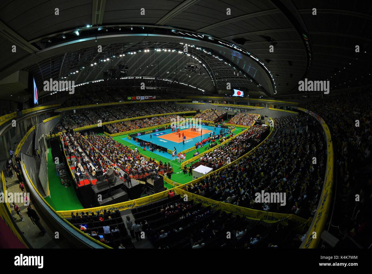 Tokio, Japan. Credit: MATSUO. 6. Sep 2017. Allgemeine Ansicht Volleyball: FIVB World Grand Champions Cup 2017 Frauen Stockfoto