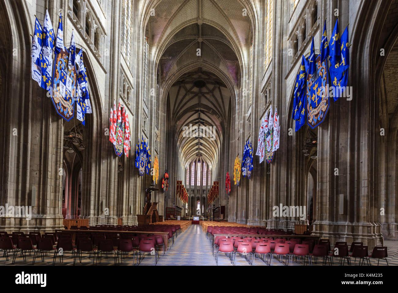 Frankreich, Loir-et-Cher (45), Orléans, intérieur Kathedrale Sainte-Croix // Frankreich, Indre-et-Loire, Orleans, innenraum der Kathedrale Sainte Croix Stockbild