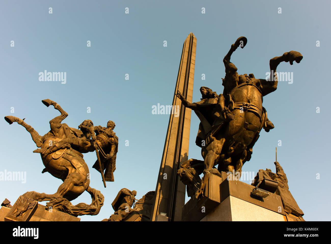 Assenevs Denkmal, oder das Denkmal von Asenevci in Veliko Tarnovo ist an die Asen Brüder, die Bulgarien von der Byzantiner befreit. Stockbild