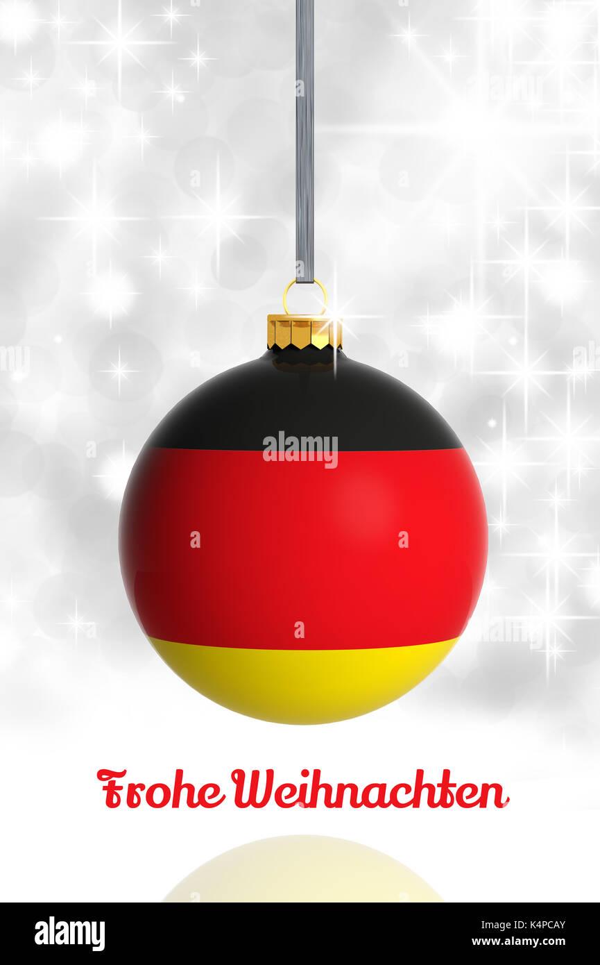 Frohe Weihnachten Aus Deutschland.Frohe Weihnachten Aus Deutschland Christmas Ball Mit Fahne