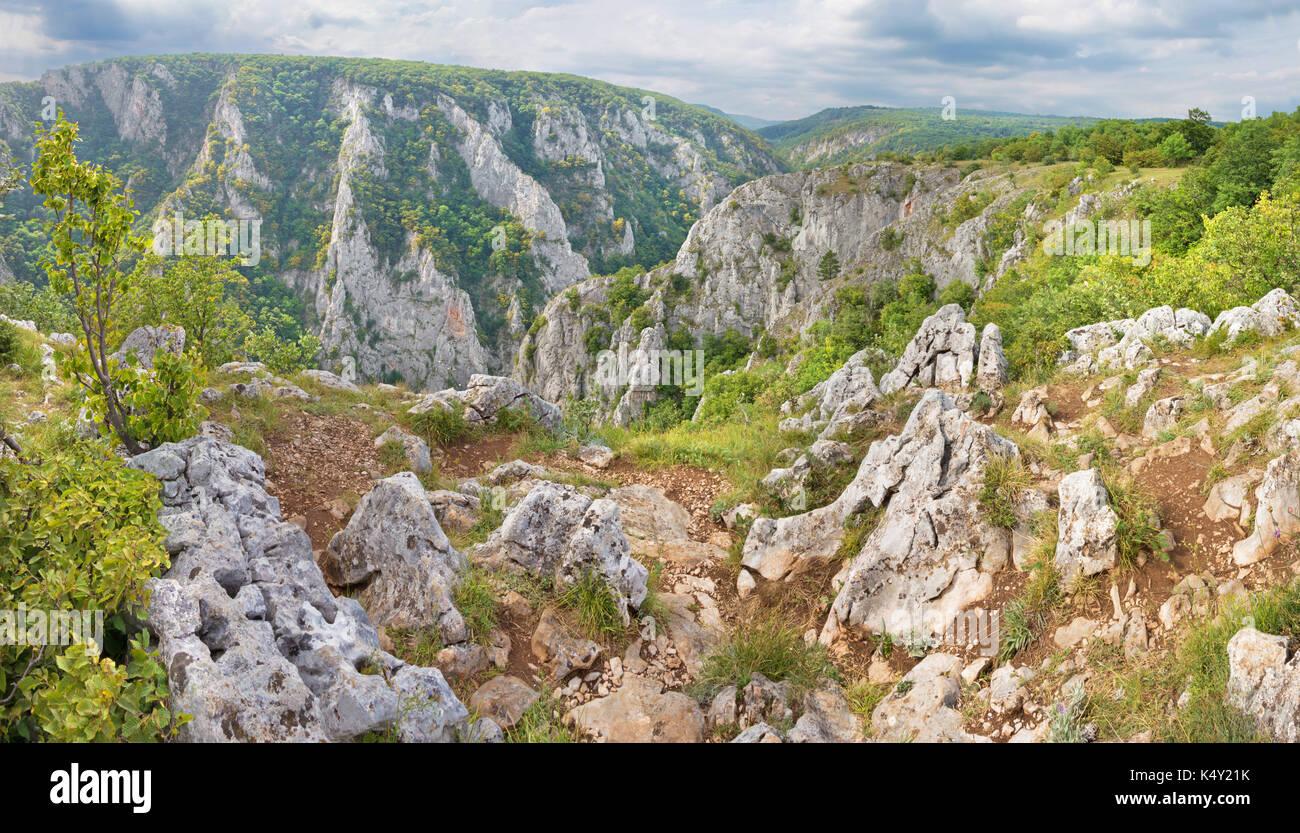 Slowakei - Zadielska Tal im Nationalpark Slovensky Kras. Stockbild