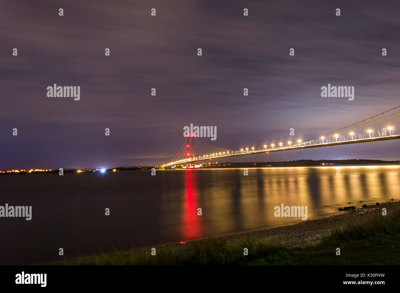 Humber Bridge Stockfoto