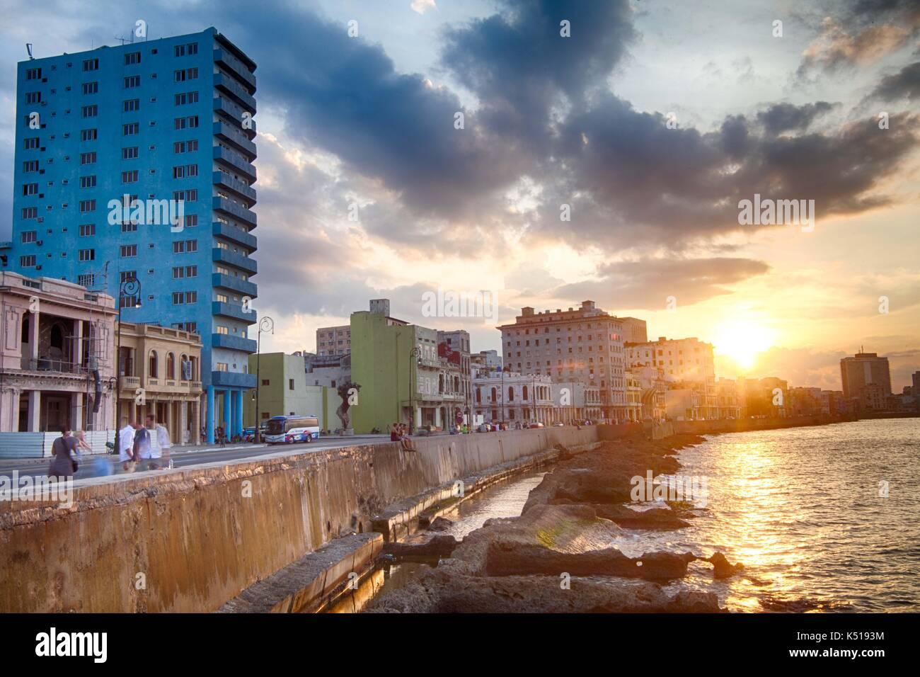 Sonnenuntergang in Kuba Stockbild