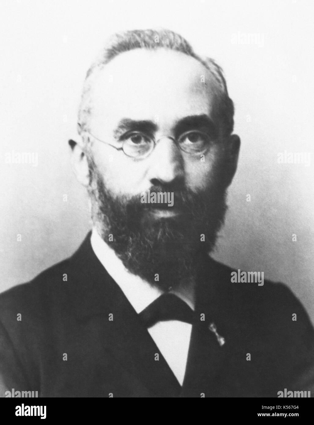 Hendrik Antoon Lorentz (1853-1928). Der niederländische Physiker. Nobelpreis für Physik, 1902. Porträt. Stockbild