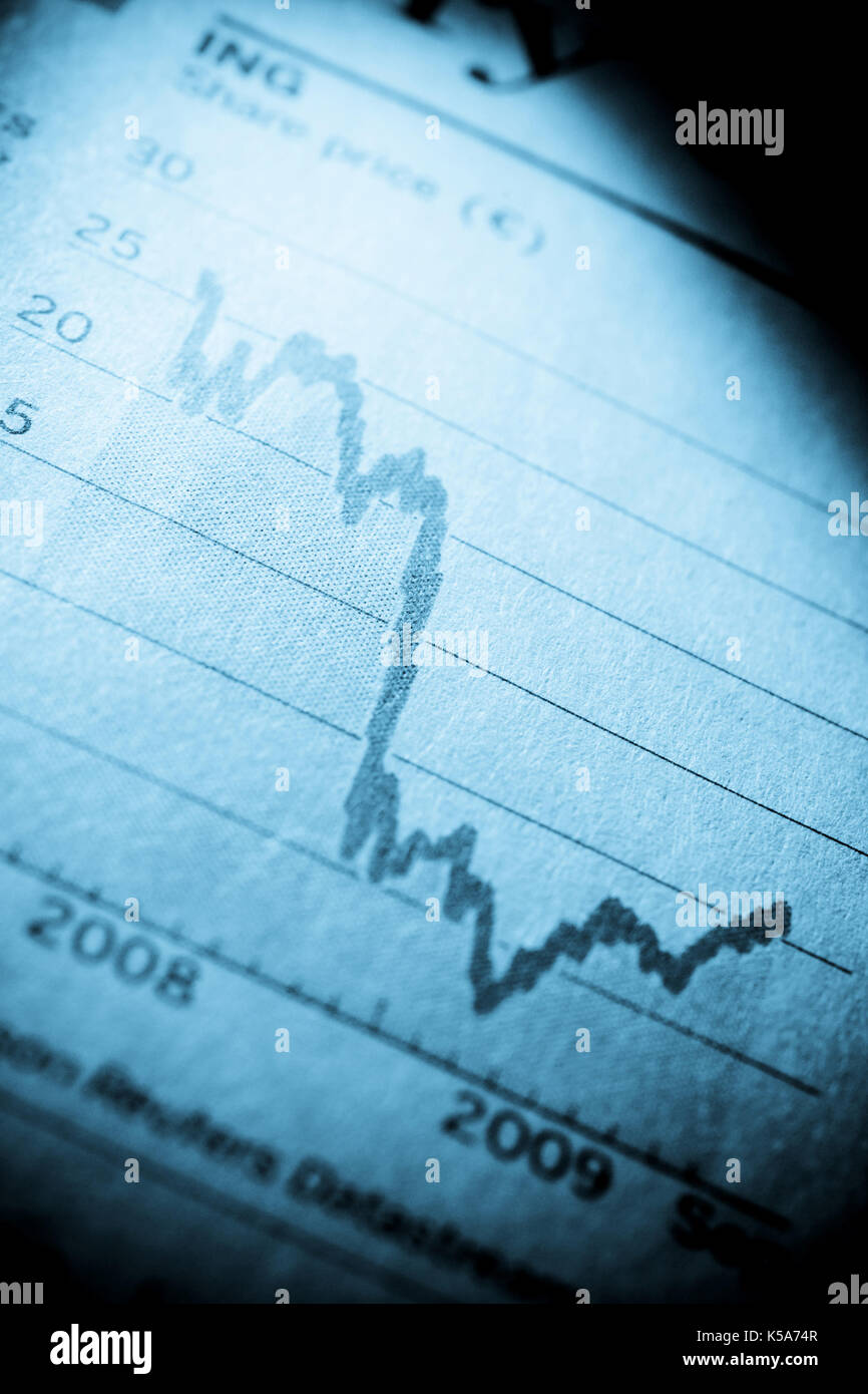 Finanzmarkt graph Stockbild