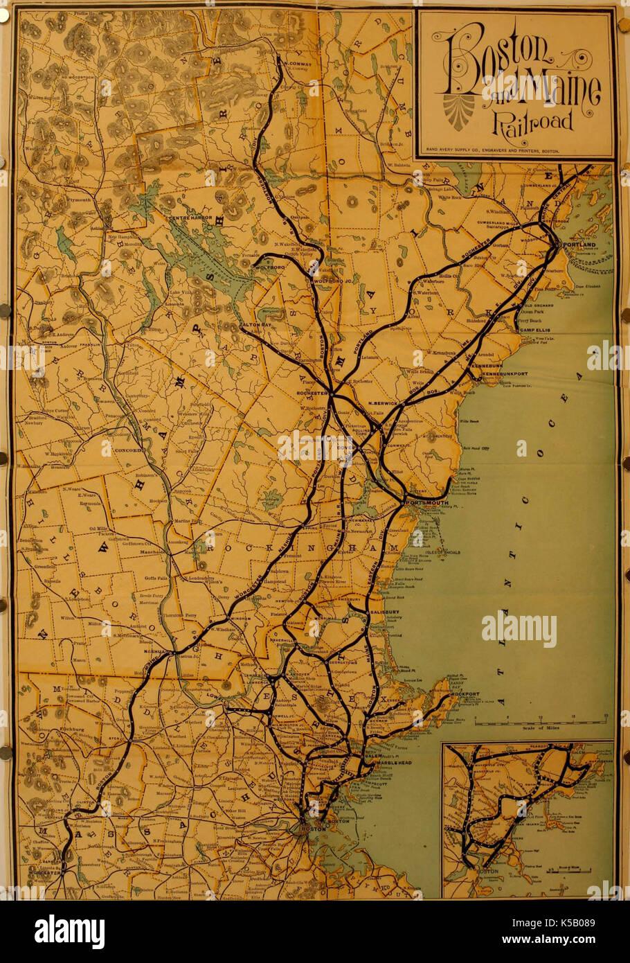 Historische Karte Von Boston Amerika Stockfoto Bild 158208297