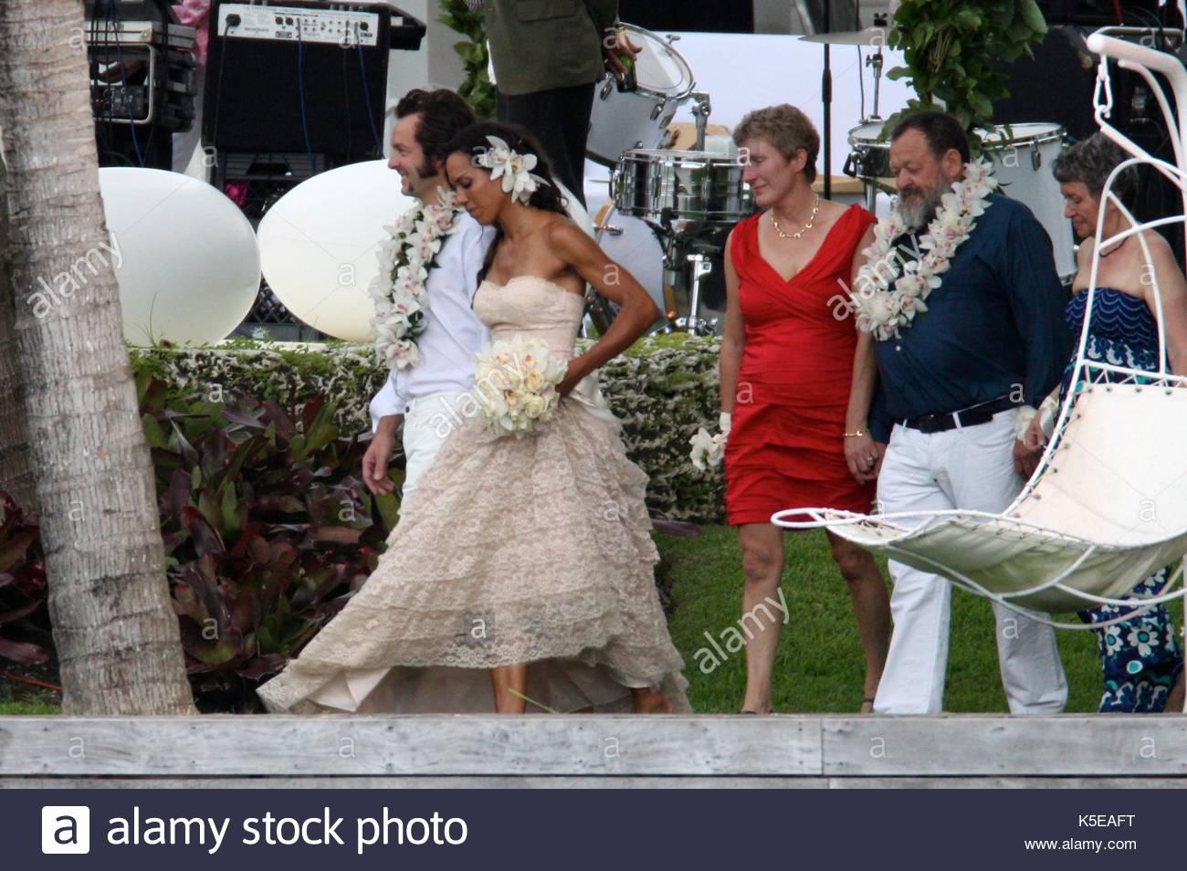 Arne und Barbara Quinze. Arne Quinze und Barbara Becker bei einer ...