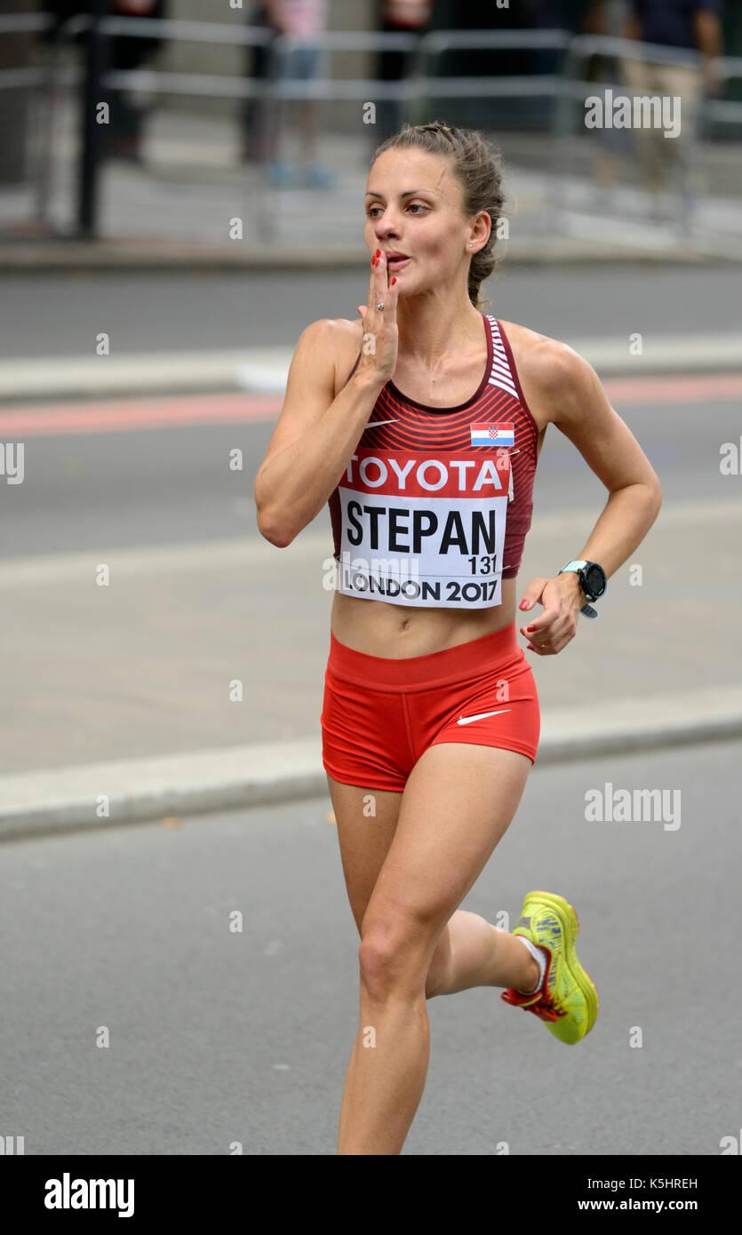 Nikolina Stepan, Kroatien, 2017 IAAF wm Frauen Marathon, London, Vereinigtes Königreich Stockbild