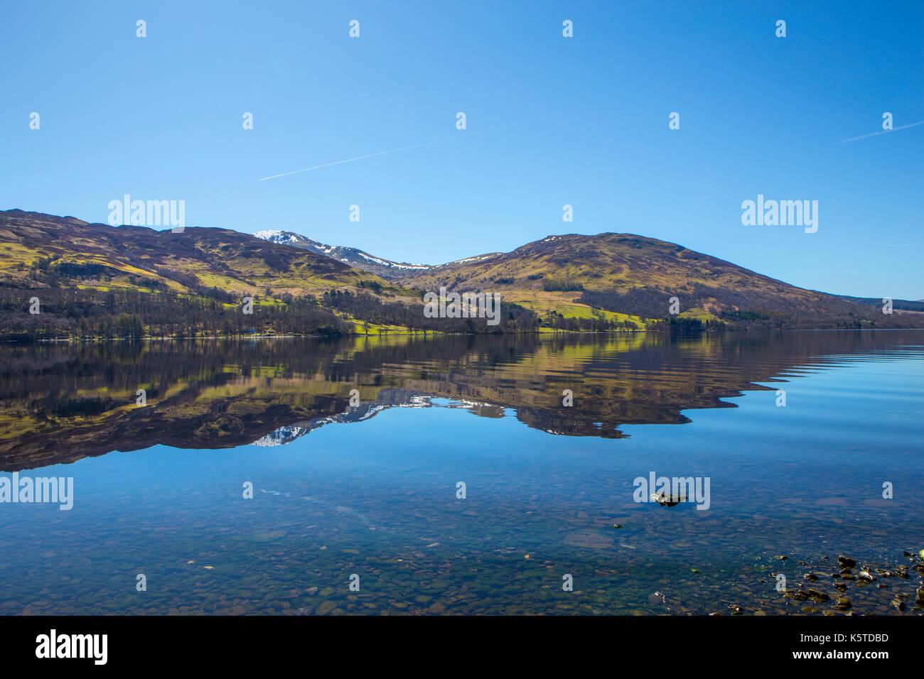 Loch Earn, Schottland Stockbild