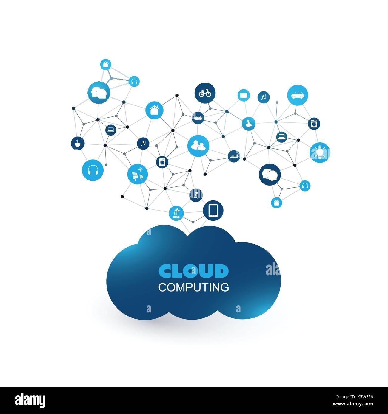 Cloud Computing, iot, iiot, Networking, zukünftige Technologie ...