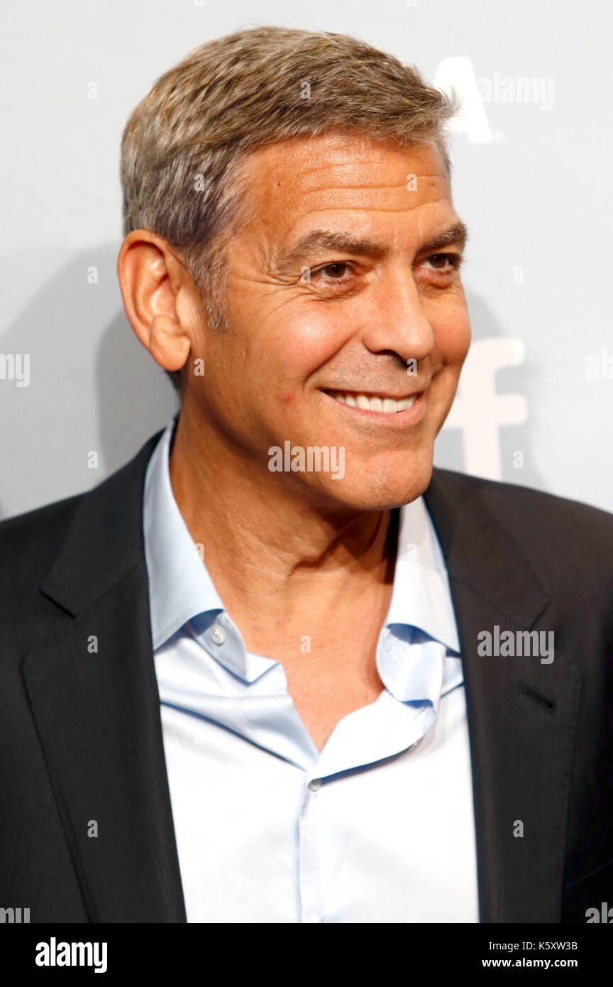 Toronto, Kanada. 10 Sep, 2017. George Clooney während des uburbicon' Fotoshooting während der 42 Toronto International Film Festival bei Bell Lightbox am 10. September 2017 in Toronto, Kanada Kredit: geisler - fotopress/alamy leben Nachrichten Stockfoto