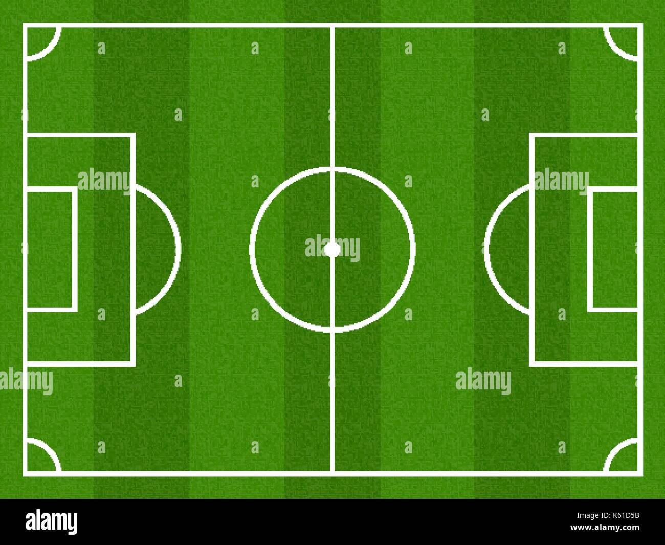 Fussball Feld Realistische Textur Von Einem Grunen Rasen