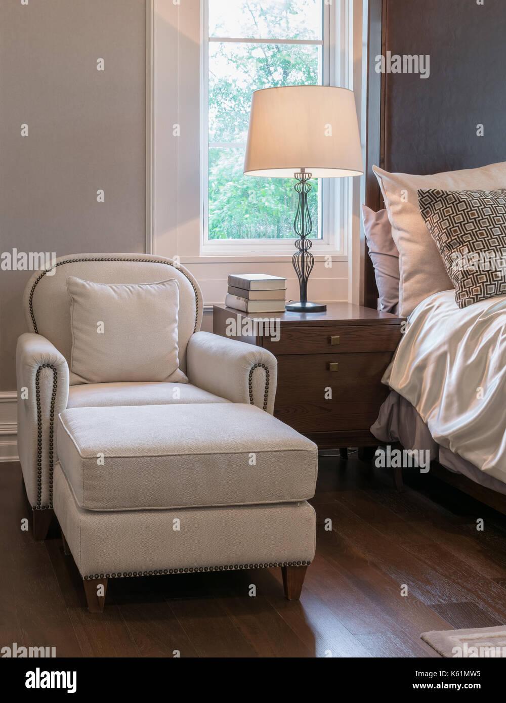 Bett Schlafzimmer Bett Bank Decke Blau Lehrstuhl Classic