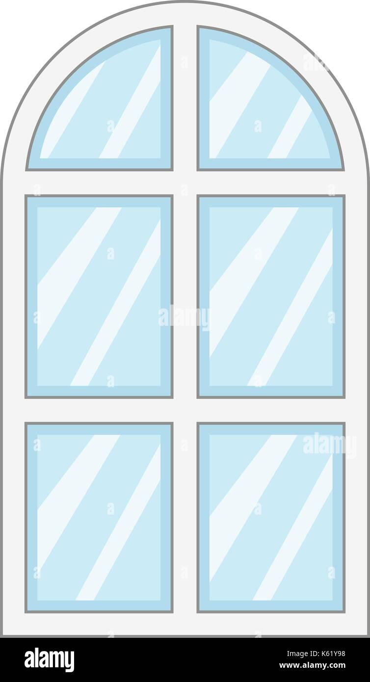 Fenster schließen frame Symbol, Cartoon Stil Vektor Abbildung - Bild ...
