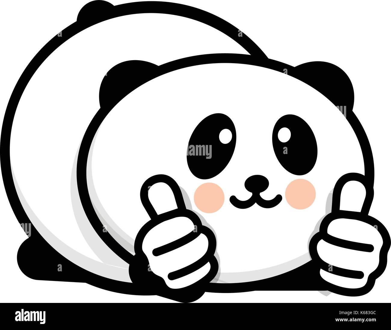 OK Logo. Lustige kleine niedliche Tier anzeigen Geste mit der Hand ...