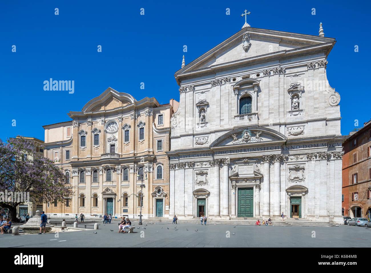 Santa Maria In Vallicella An Der Piazza Della Chiesa Nuova Rom