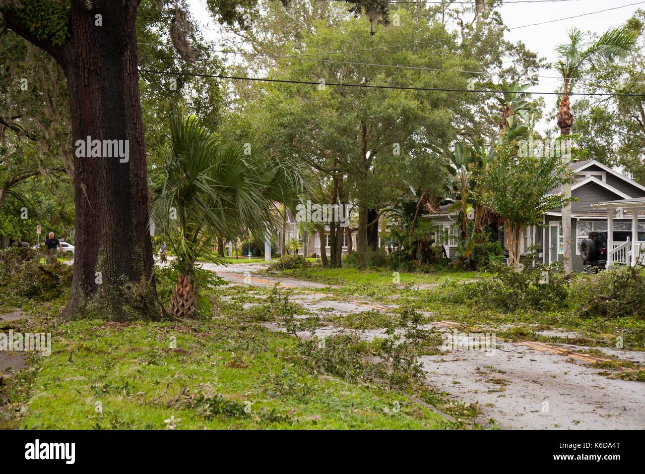 Orlando, USA. 11 Sep, 2017. Hurricane Irma Schäden in der historischen Innenstadt von Lake Eola Höhen Nachbarschaft Orlando Florida September 11, 2017 Credit: Michele Oenbrink/Alamy leben Nachrichten Stockbild