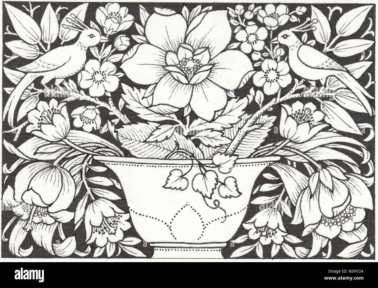 Blumenkorb, Stockbild
