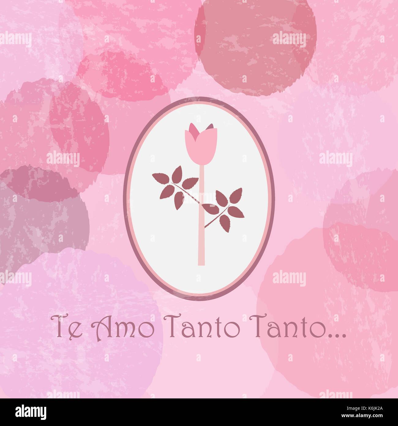 Ich Liebe Dich So So Sehr In Spanischer Sprache. Te Amo Tanto ...