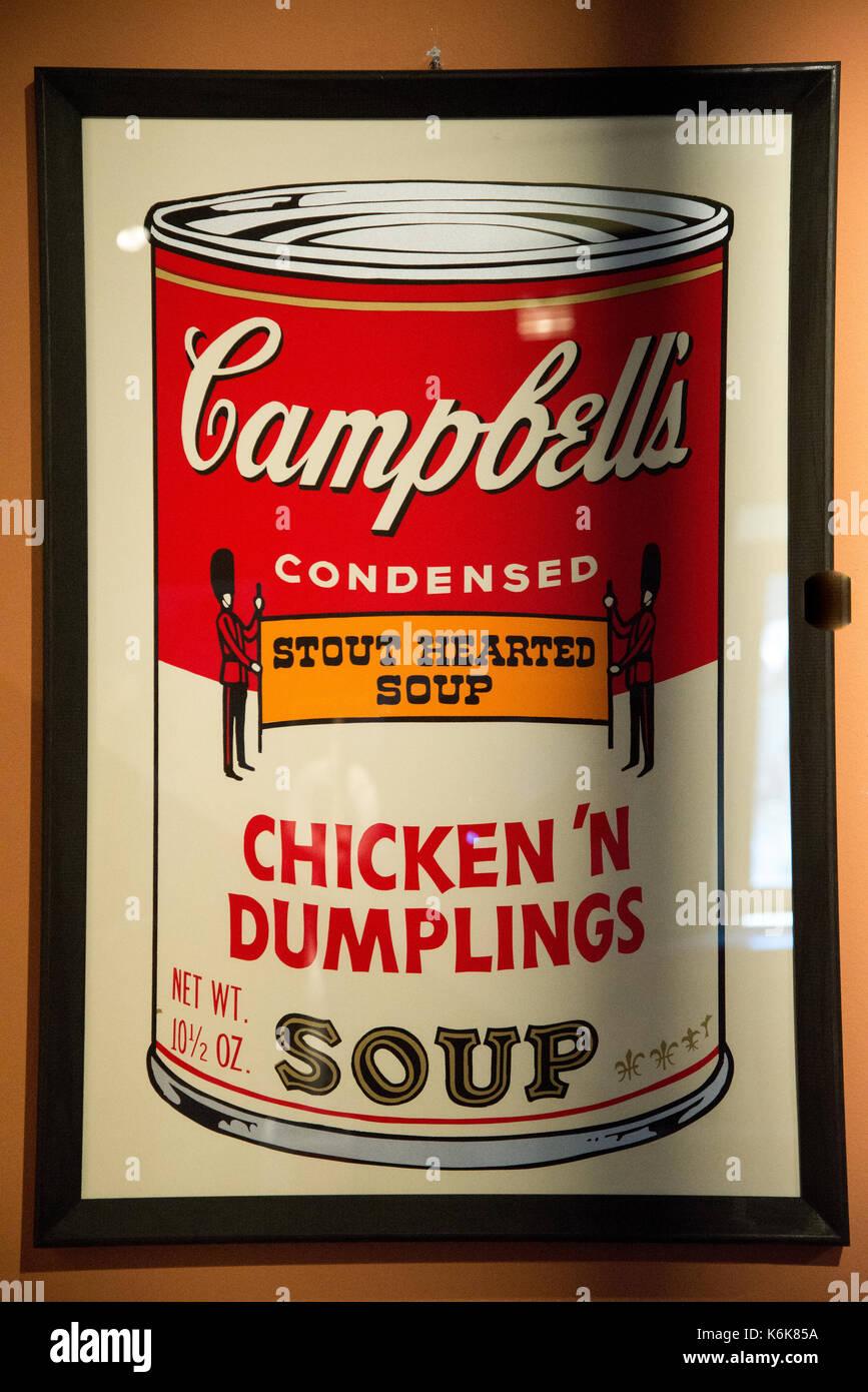 Kunstwerke Von Andy Warhol Bei Exposition In Agrigent Sizilien