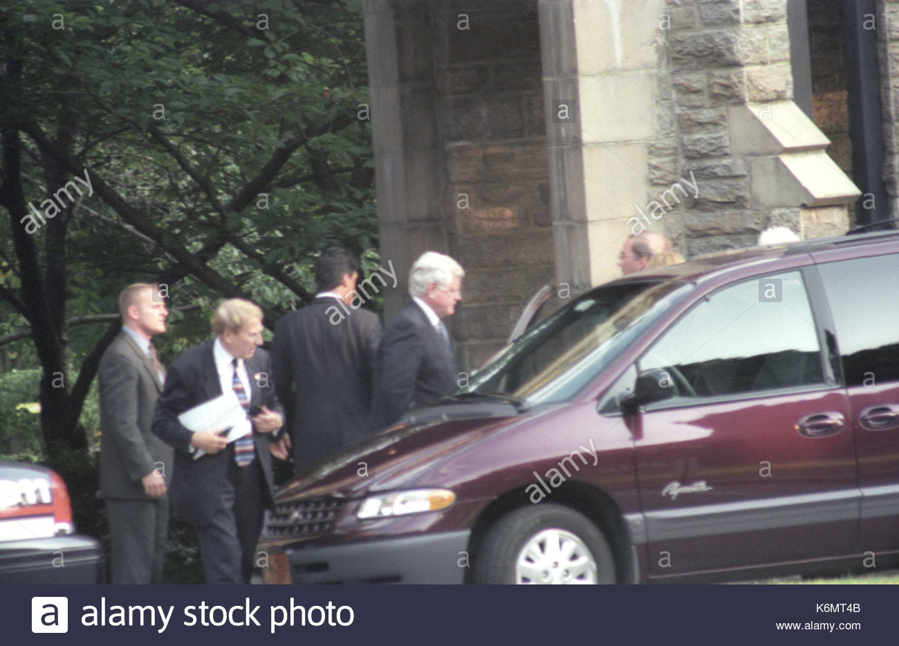 Ted Kennedy Mitglieder Der Familie Kennedy Verlassen Die