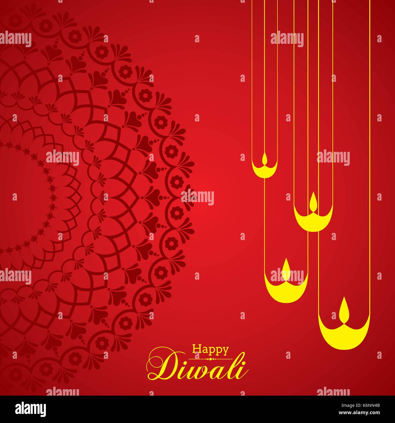 Abbildung: Diwali utsav Begrüßung oder Poster Karte Vektor Abbildung ...