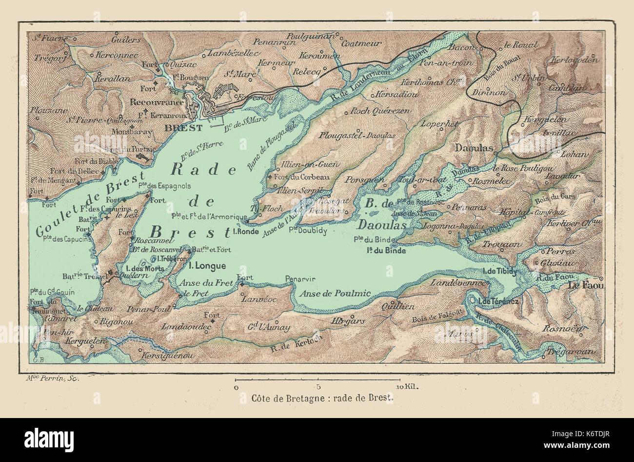 Map Brest France Stockfotos & Map Brest France Bilder - Alamy