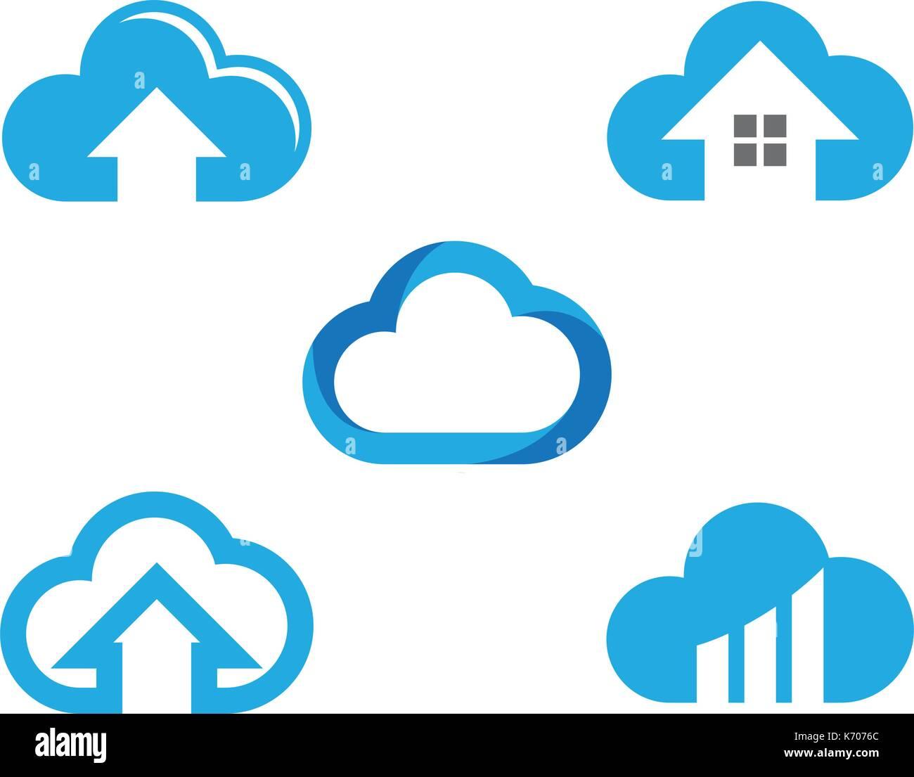 Cloud-Technologie Vektor-Logo Vorlage Design Vektor Vektor Abbildung ...