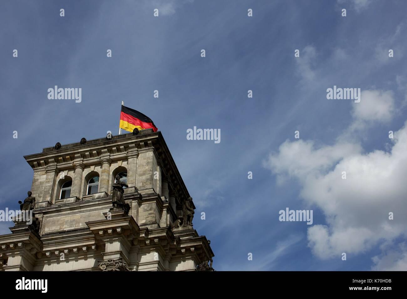 Der Reichstag in Berlin. Bundestag. Stockbild