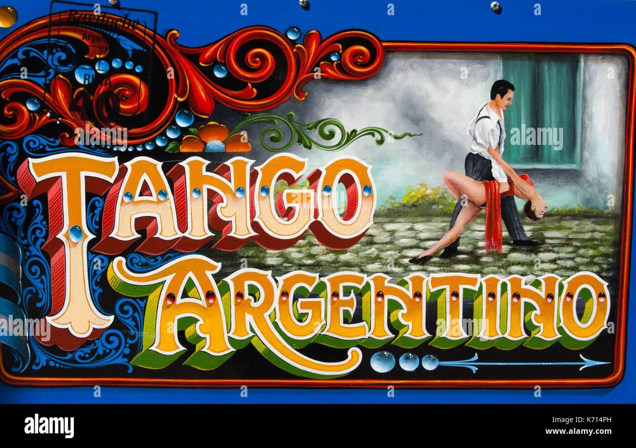 Argentinien, Buenos Aires, einmal Tango orientierte Kunstwerk in der Nähe von Museo Casa Carlos Gardel, Welt-berühmte Tango-Sänger Stockbild