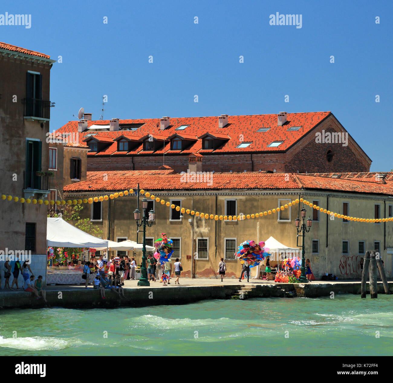 Giudecca, Festa del Redentore Venedig, dem Fest des Heiligsten Erlösers Venezia Stockbild
