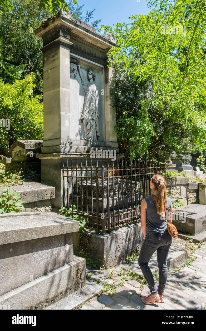 Frankreich, Paris, Pere Lachaise Friedhof, Das Grab Des Italienischen  Komponisten Cherubini