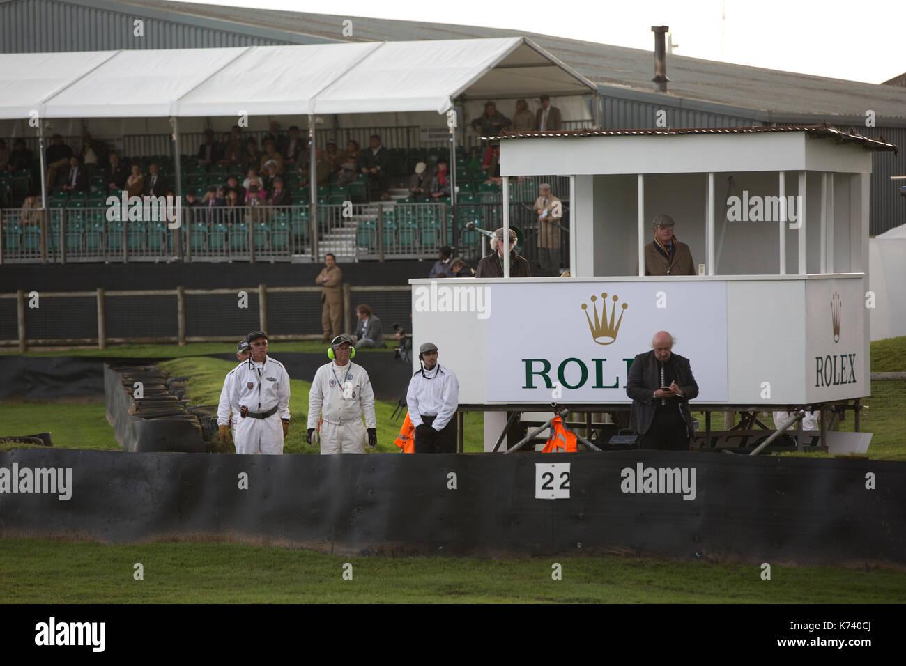 Freddie März Memorial Trophy Rennen in Goodwood Revival 2017 Konferenz, Goodwood Rennstrecke, von der britischen Automobile Racing Club, England, UK organisiert Stockbild