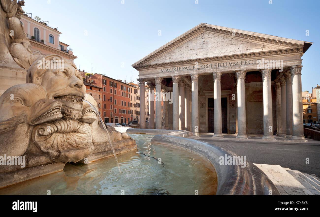 Pantheon - Rom, Italien, Rom. Hauptstädte, Kirche Stockbild