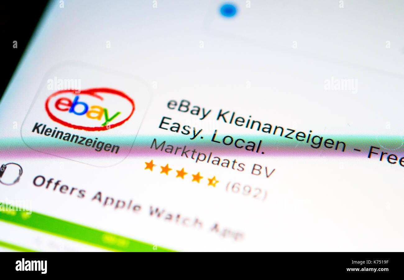 Ebay Kleinanzeigen App Im Apple App Store App Icon Anzeige Auf Einem Bildschirm Eines Handy Iphone Ios Smartphone Stockfotografie Alamy