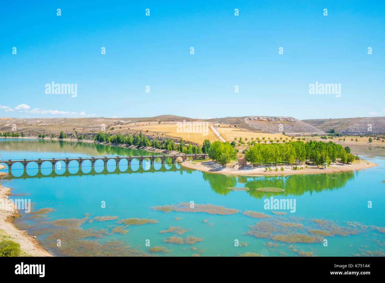 Linares Behälter. Maderuelo, Segovia Provinz Castilla Leon, Spanien. Stockbild