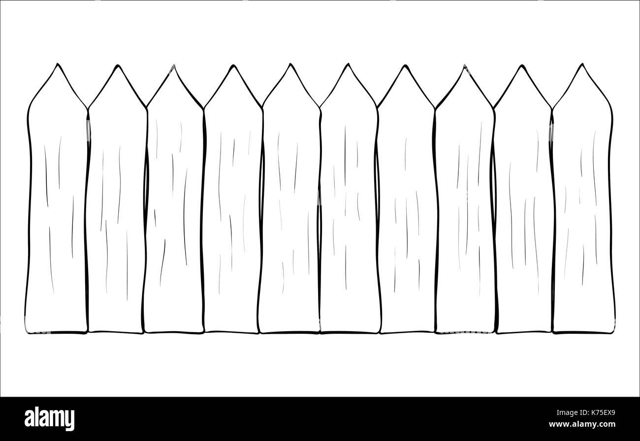 Zaun Cartoon Umrisse Vektor Symbol Icon Design Schone Abbildung Auf