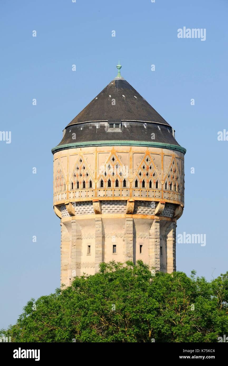 Frankreich, Moselle, Metz, Wasserturm des Bahnhofs von Metz-Ville 1908 eingeweiht und Gewählten in den schönsten Stockbild