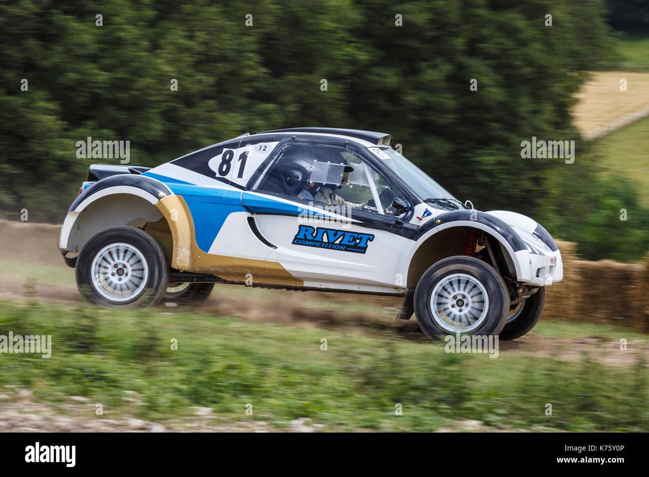 Niet buggy 2016 safari Championship Auto mit Fahrer fabrice Niet am Goodwood Festival 2017 von Geschwindigkeit, Sussex, UK. Stockbild
