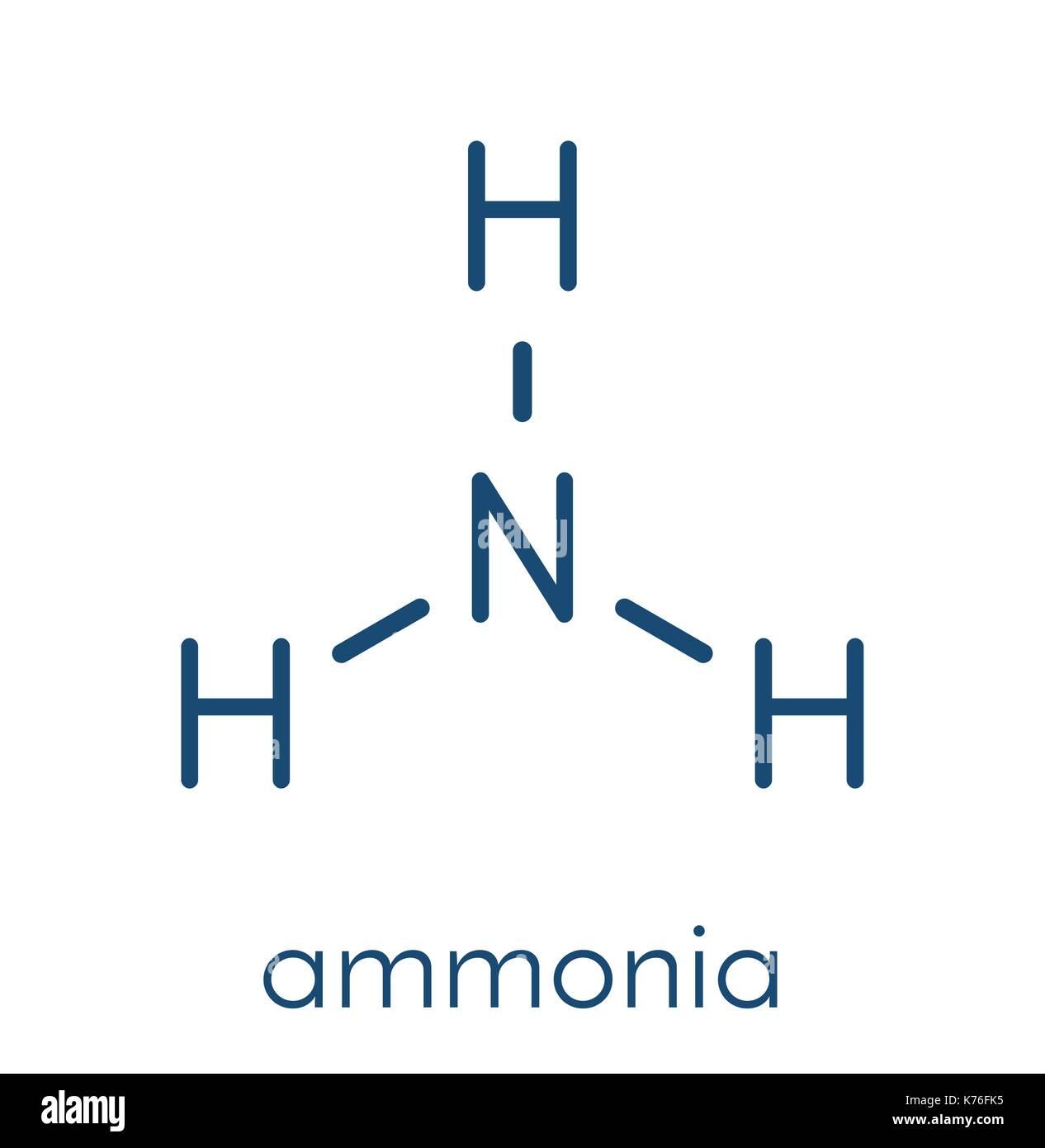 Ammoniak Nh3 Molekül Skelettmuskulatur Formel Vektor