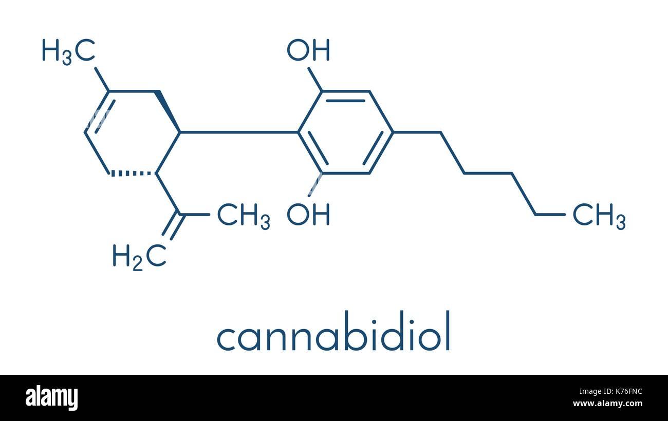 Cannabidiol Cbd Cannabis Molekül Hat Antipsychotischen