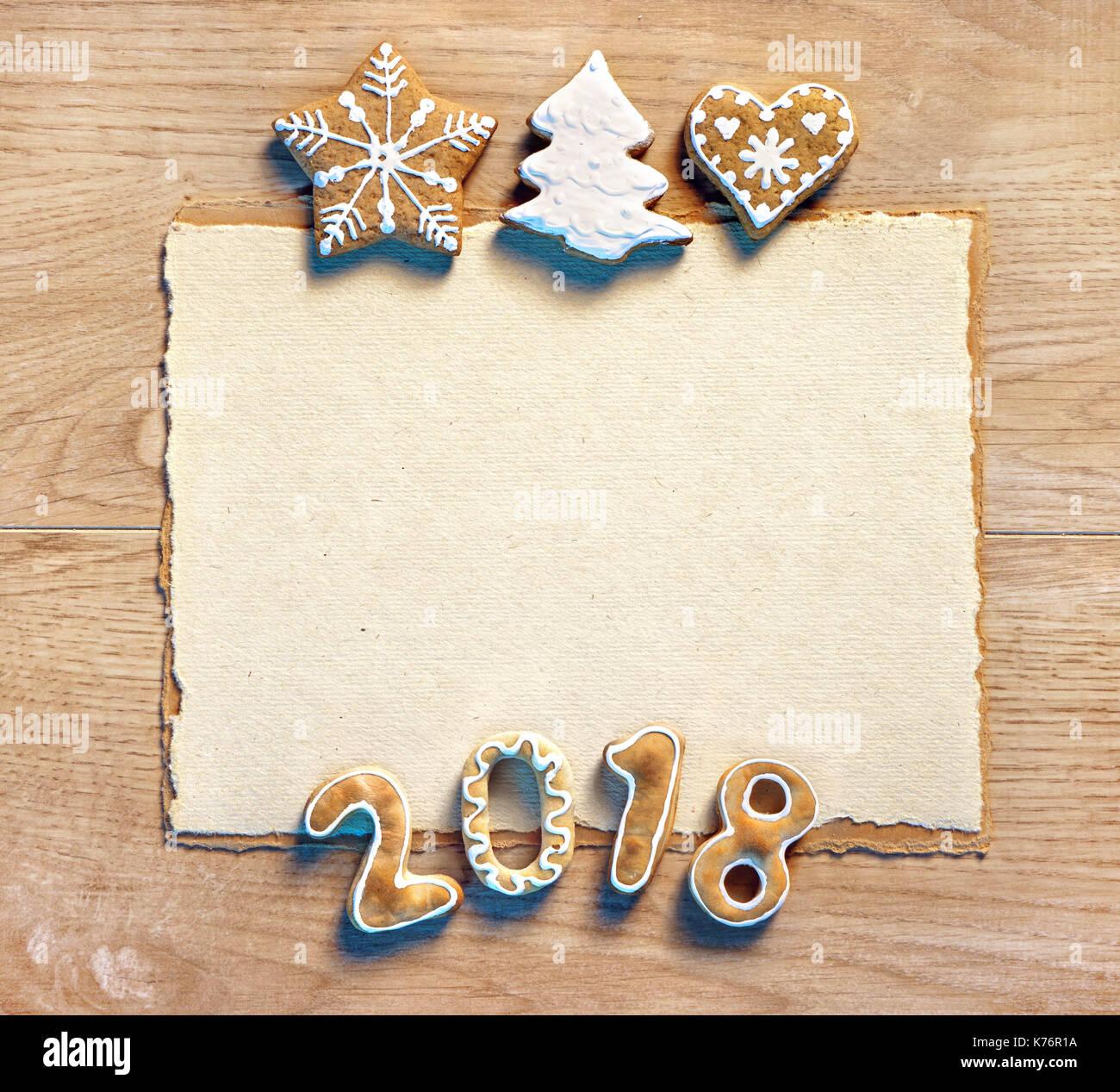 weihnachtsbrief mit lebkuchen cookies 2018 frohe. Black Bedroom Furniture Sets. Home Design Ideas