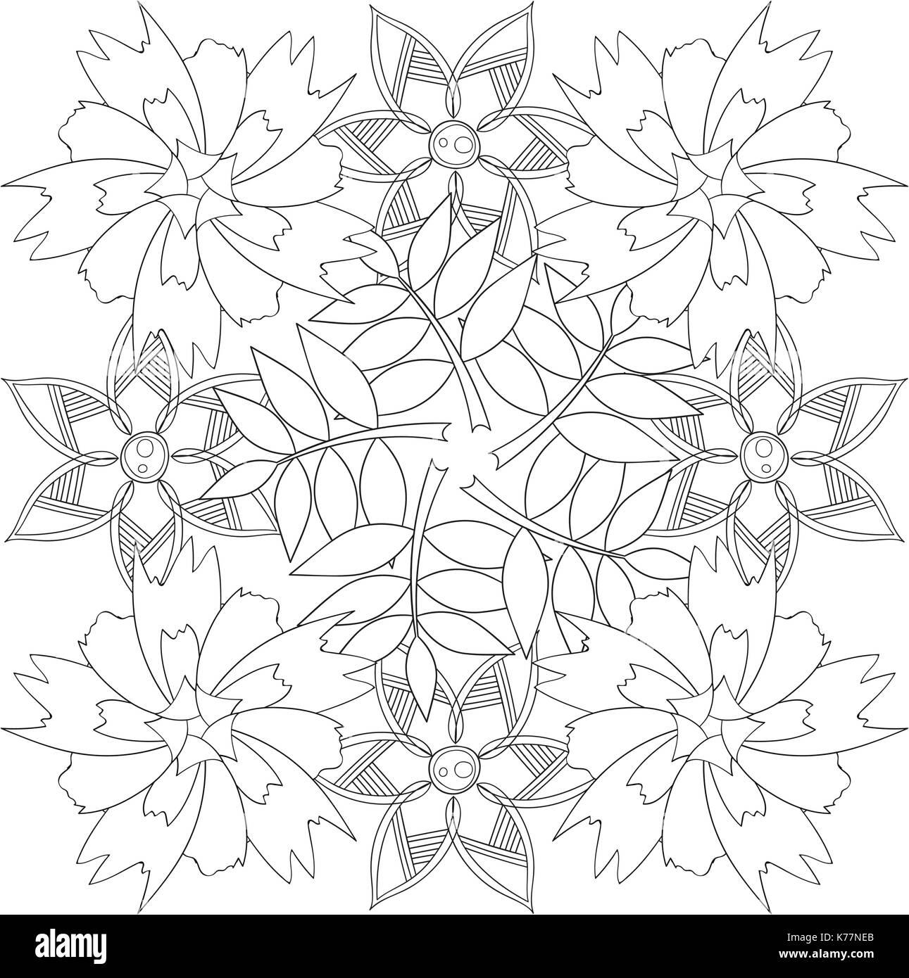 Malbuch Seite für Erwachsene und Kinder in doodle Stil. Stockbild