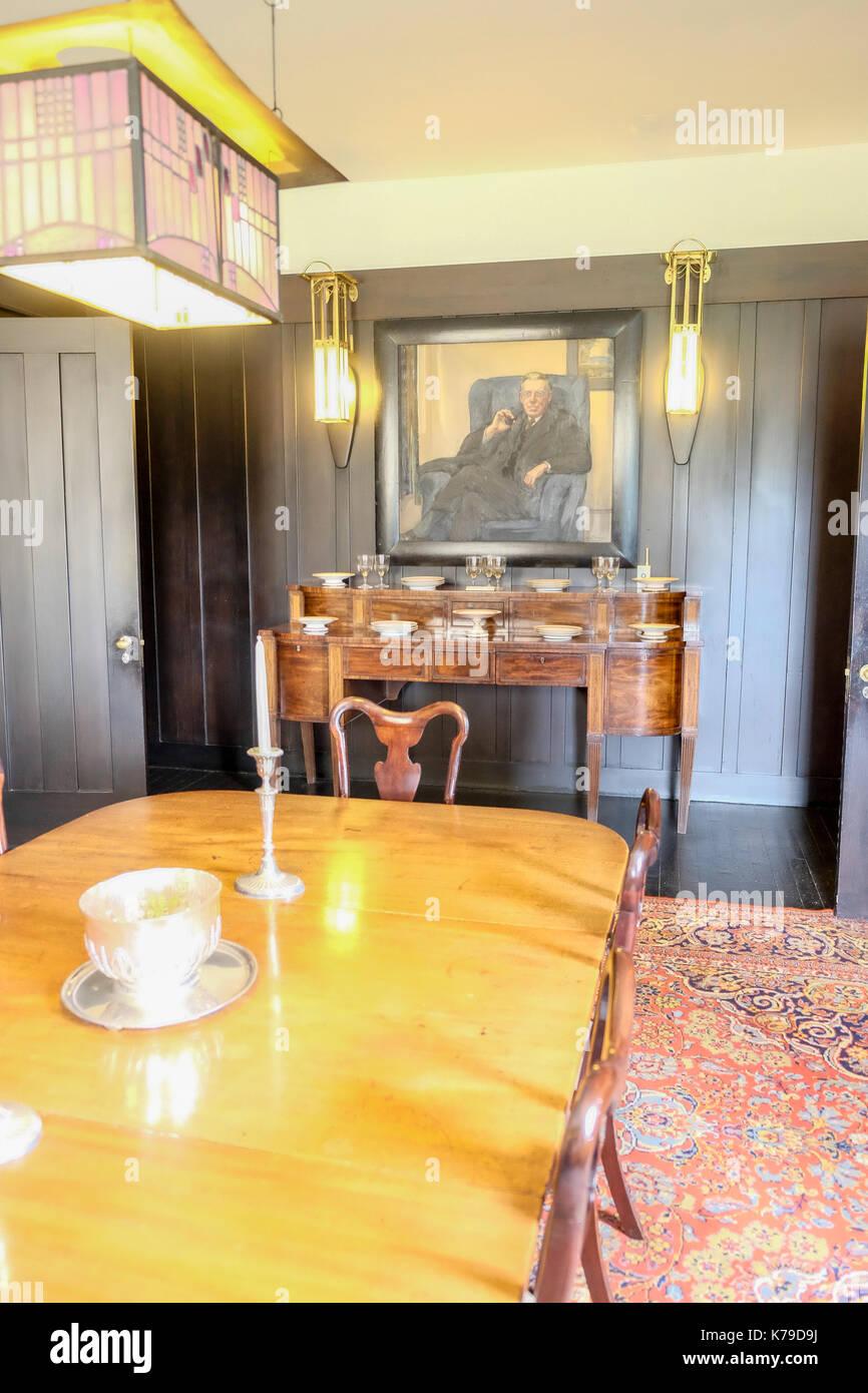 Esszimmer Von Remy Mackintosh In Schottland Konzipiert Stockbild